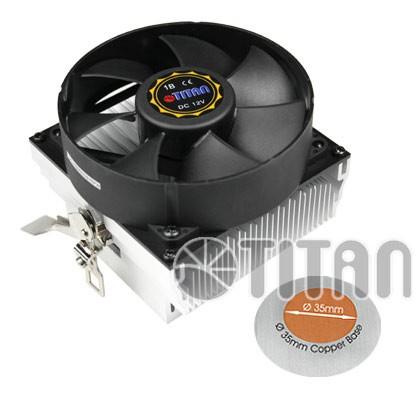 Устройство охлаждения(кулер) Titan DC-K8M925B/R/CU35 Soc-FM2+/AM2+/AM3+ 3-pin 27dB Al+Cu 110W 428gr Ret