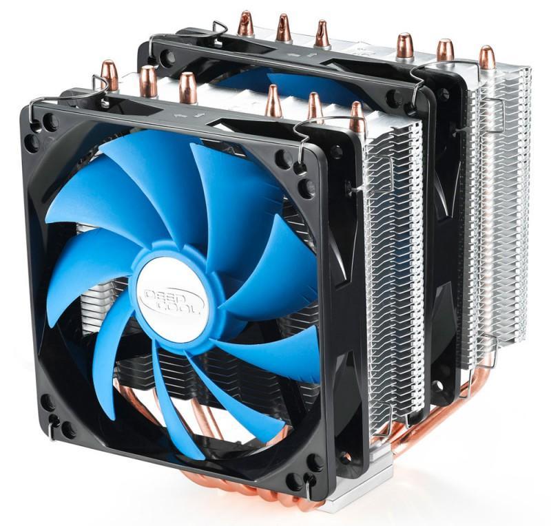 Устройство охлаждения(кулер) Deepcool NEPTWIN V2 Soc-AM4/AM3+/1150/1151/1200/2011 4-pin 18-30dB Al+Cu 150W LED Ret