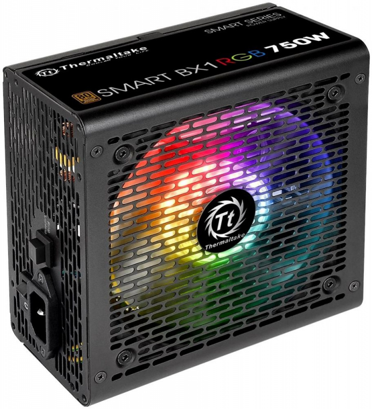 Блок питания Thermaltake ATX 750W Smart BX1 RGB 80+ bronze (24+4+4pin) APFC 120mm fan color LED 8xSATA RTL
