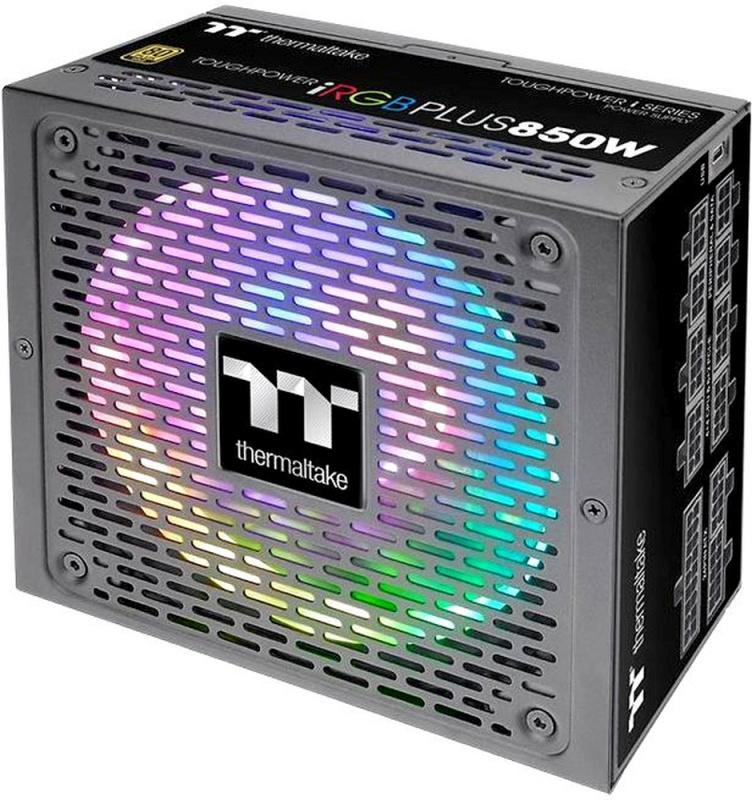 Блок питания Thermaltake ATX 850W Toughpower iRGB Plus 80+ gold (24+4+4pin) APFC 140mm fan color LED 12xSATA Cab Manag RTL