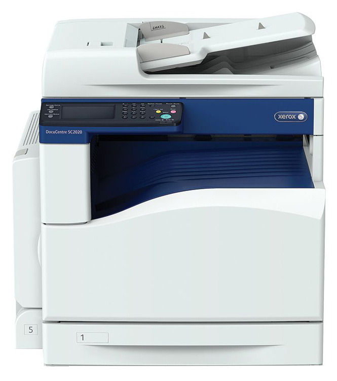 МФУ лазерный Xerox DocuCentre SC2020 (SC2020V_U) A3 Duplex Net белый/синий