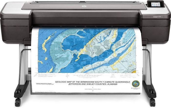 "Плоттер HP Designjet T1700dr Postscript Printer (1VD88A) A0/44"""