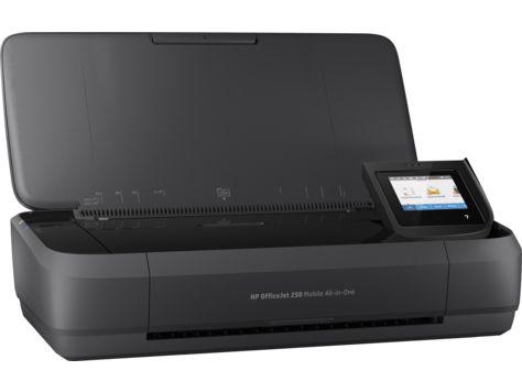 МФУ струйный HP OfficeJet 252 mobile AiO (N4L16C) A4 WiFi USB черный/серебристый (в комплекте: батарея)