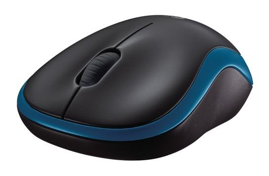 Мышь Logitech M185 синий оптическая (1000dpi) беспроводная USB1.1 для ноутбука (2but)