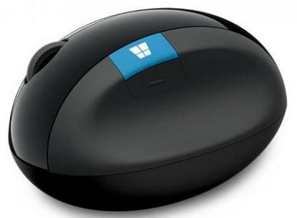 Мышь Microsoft Sculpt ERGO черный оптическая (1000dpi) беспроводная USB (3but)