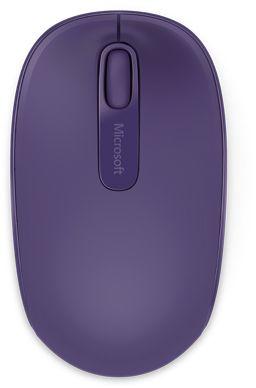 Мышь Microsoft Mobile Mouse 1850 фиолетовый оптическая (1000dpi) беспроводная USB для ноутбука (2but)