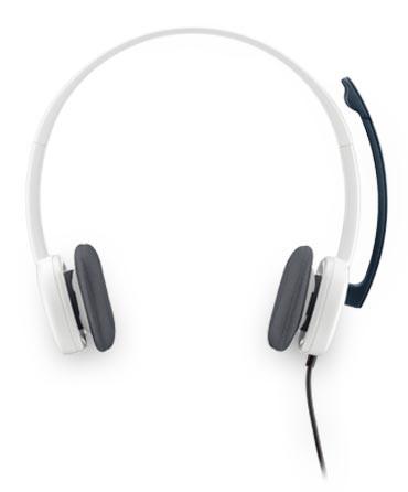 Наушники с микрофоном Logitech H150 белый накладные оголовье (981-000350)