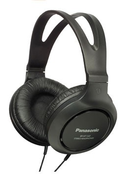 Наушники мониторы Panasonic RP-HT161E-K 2м черный проводные (оголовье)