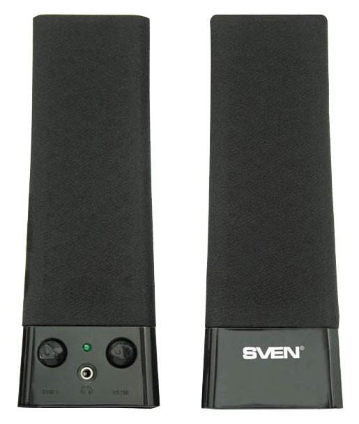 Колонки Sven 235 2.0 черный 4Вт