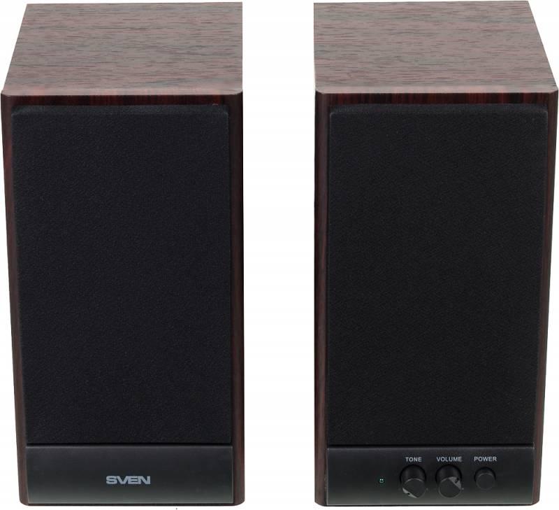 Колонки Sven SPS-609 2.0 коричневый/вишня 10Вт