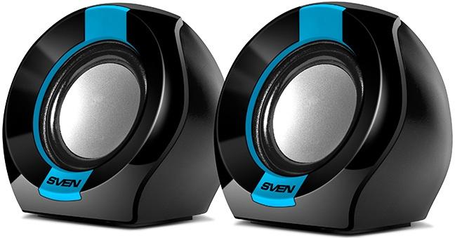 Колонки Sven 150 2.0 черный/синий 5Вт (плохая упаковка)