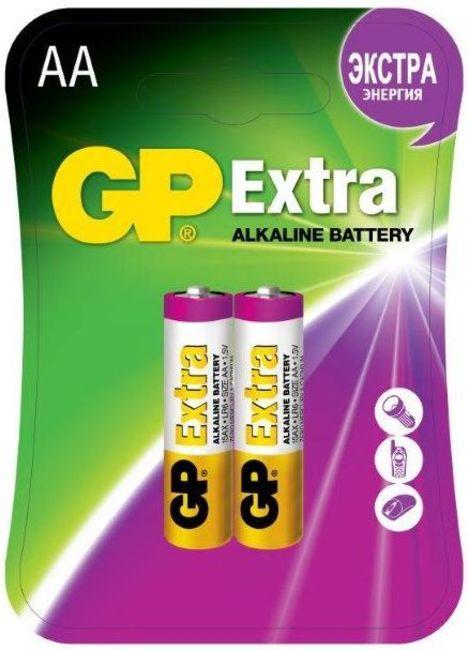 Батарея GP Extra Alkaline 15AX LR6 AA (2шт) блистер