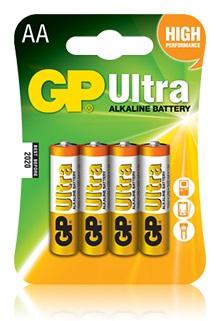 Батарея GP Ultra Alkaline 15AU LR6 AA (4шт)