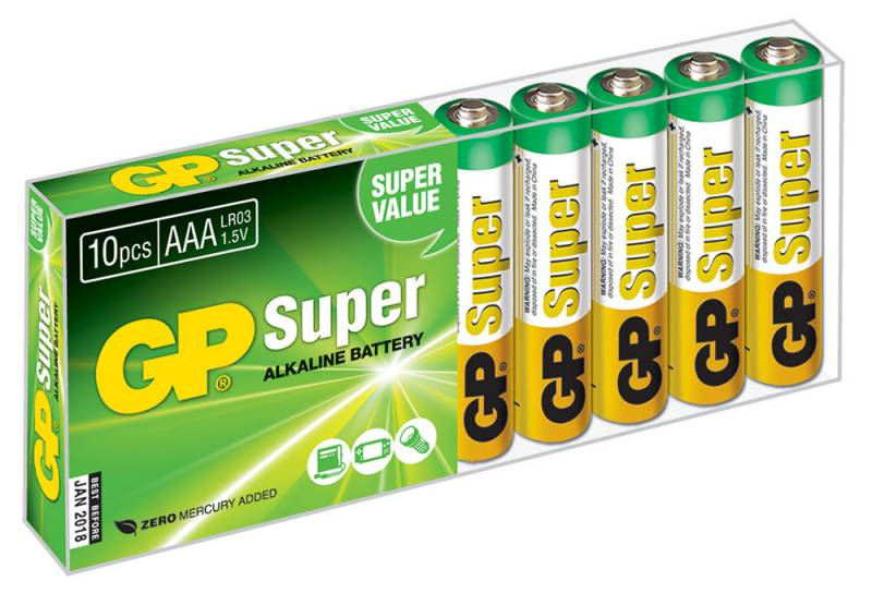Батарея GP Super Alkaline 24A LR03 AAA (10шт)