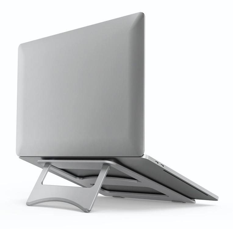 """Подставка для ноутбука Hama Aluminium (00053059) 15.4""""230x230x5мм алюминий серебристый"""