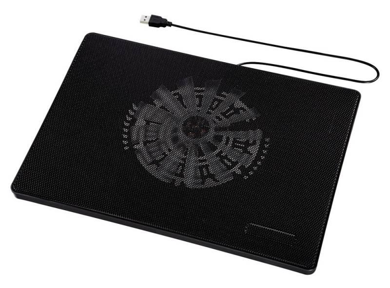 """Подставка для ноутбука Hama Slim (00053067) 15.6""""335x236x30мм 33дБ 1x 160ммFAN 518г пластик черный"""