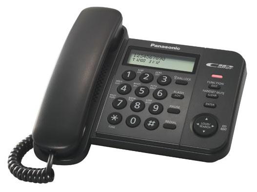Телефон проводной Panasonic KX-TS2356RUB черный