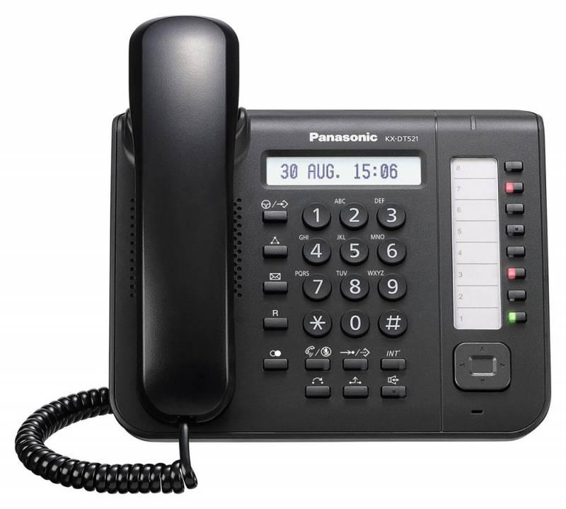 Системный телефон Panasonic KX-DT521RUB черный