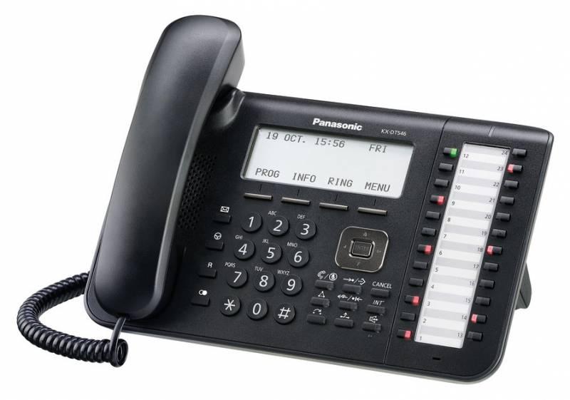 Системный телефон Panasonic KX-DT546RUB черный