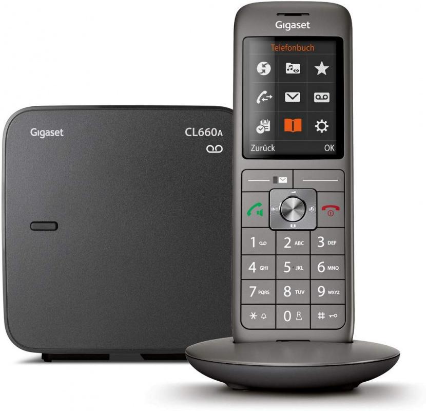 Р/Телефон Dect Gigaset CL660A SYS RUS черный автооветчик АОН