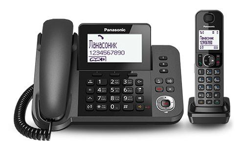 Р/Телефон Dect Panasonic KX-TGF320RUM черный металлик автооветчик АОН