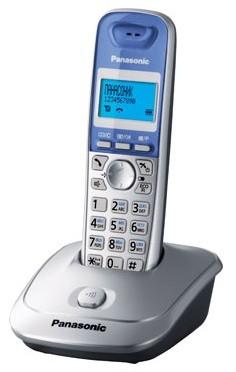 Р/Телефон Dect Panasonic KX-TG2511RUS серебристый/голубой АОН