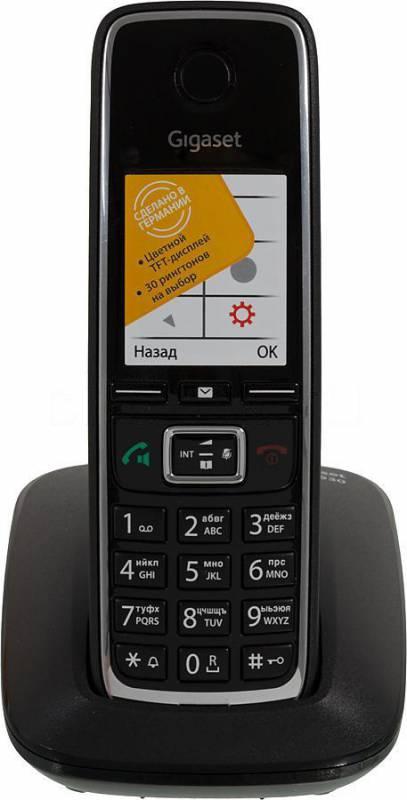 Р/Телефон Dect Gigaset C530 RUS черный АОН