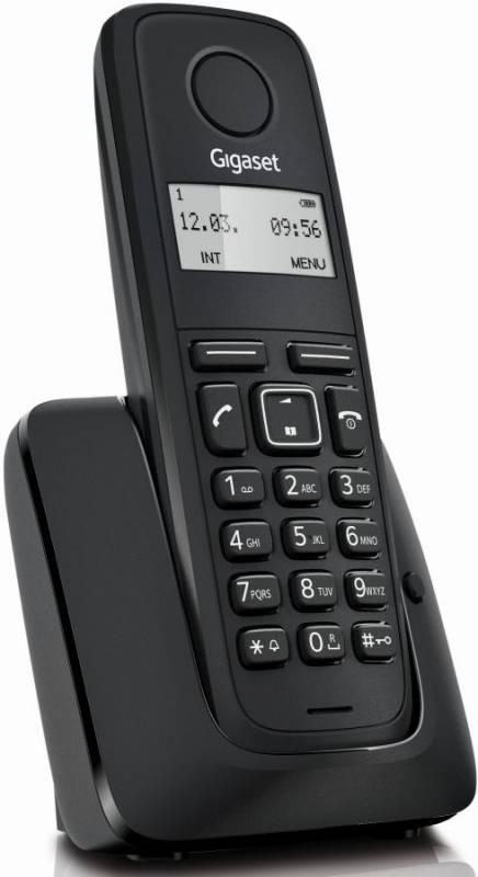 Р/Телефон Dect Gigaset A116 RUS черный АОН