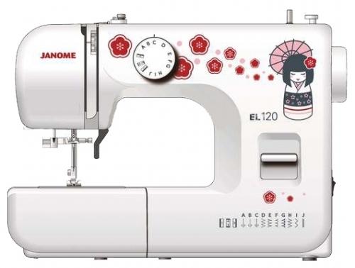 Швейная машина Janome EL120 белый/рисунок