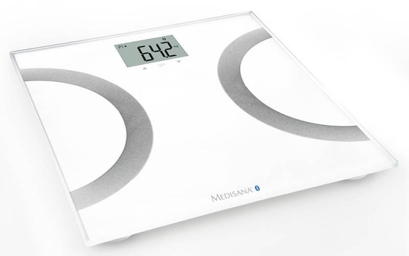 Весы напольные электронные Medisana BS 445 Connect макс.180кг белый/серебристый