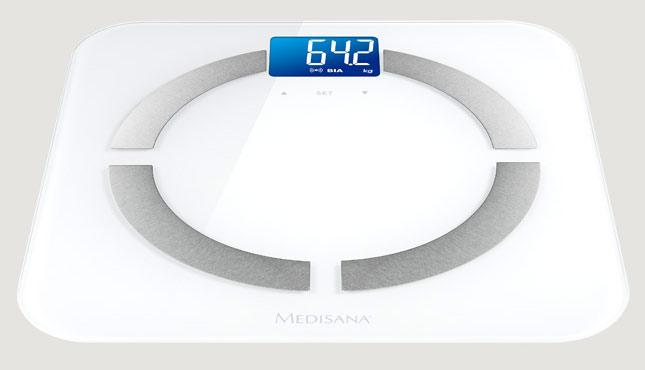 Весы напольные электронные Medisana BS 430 Connect макс.180кг белый