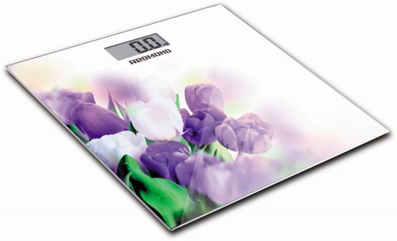 Весы напольные электронные Redmond RS-733 макс.180кг белый/тюльпан