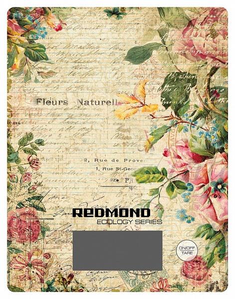 Весы кухонные электронные Redmond RS-736 макс.вес:8кг рисунок/цветы