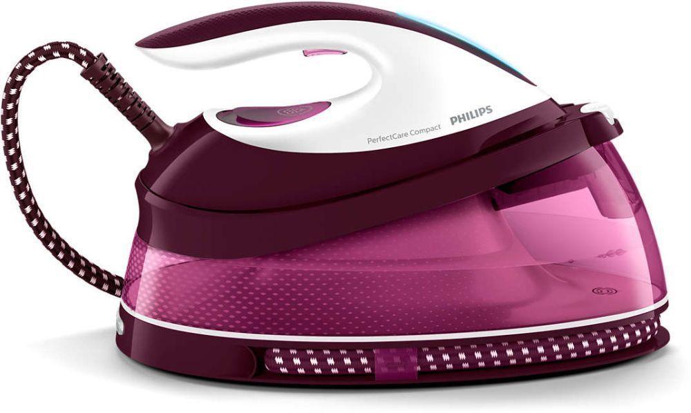 Парогенератор Philips PerfectCare Compact GC7808/40 2400Вт белый/фиолетовый