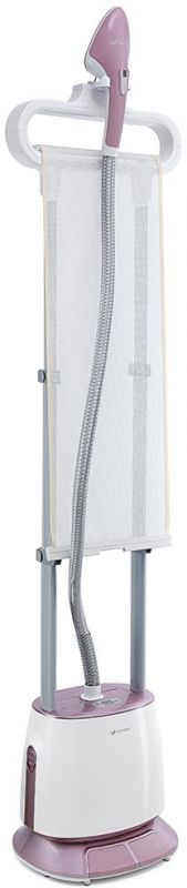 Отпариватель напольный Kitfort КТ-919 1500Вт белый/розовый