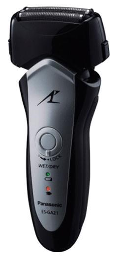 Бритва сетчатая Panasonic ES-GA21 реж.эл.:3 питан.:аккум. черный/серый