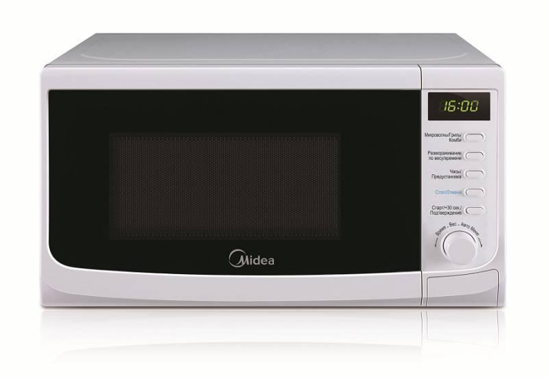 Микроволновая Печь Midea AG820CWW-W 20л. 800Вт белый